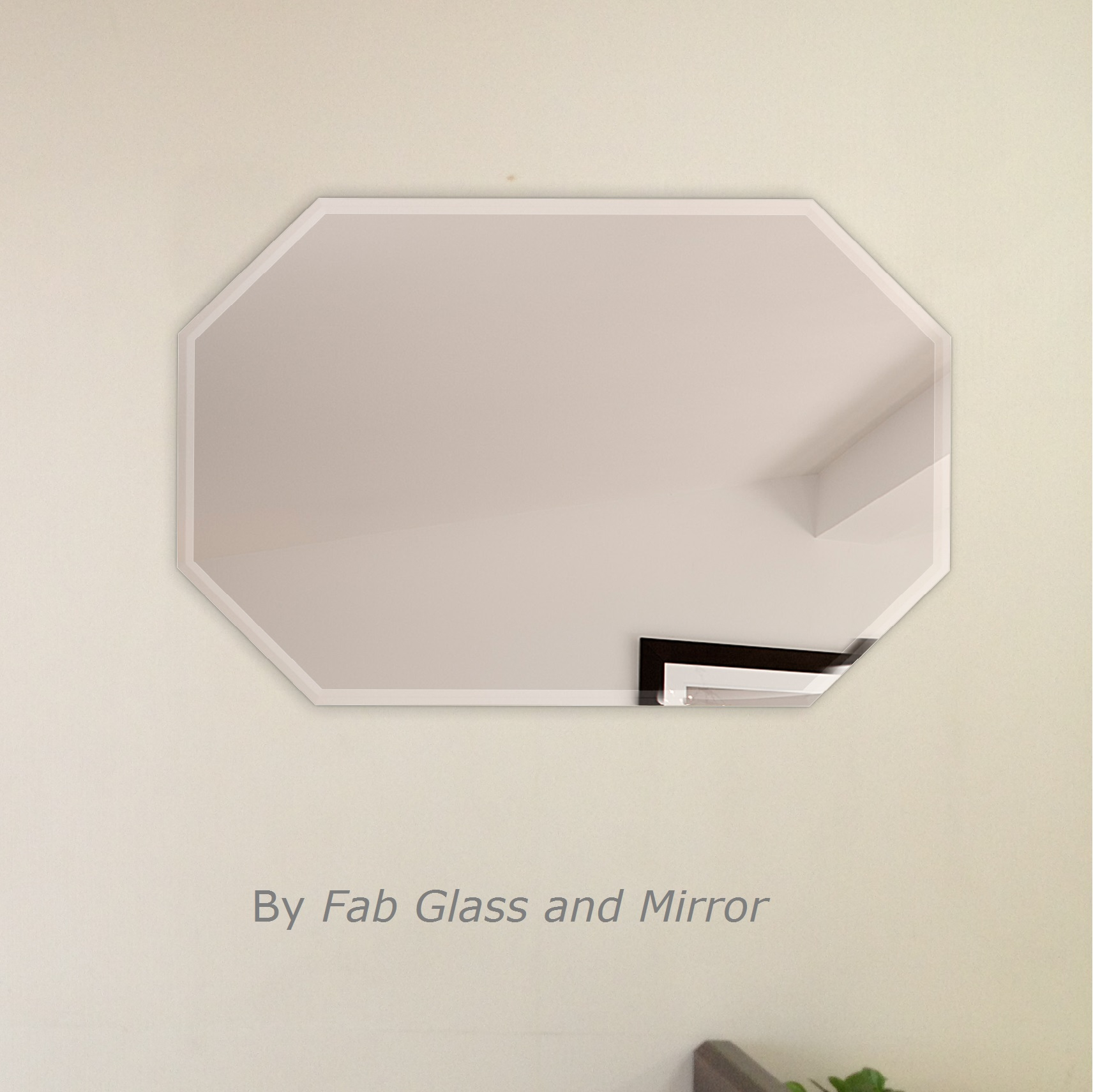 Fab glass and mirror octagon frameless wall mirror bevel polish fab glass and mirror octagon frameless wall mirror amipublicfo Images
