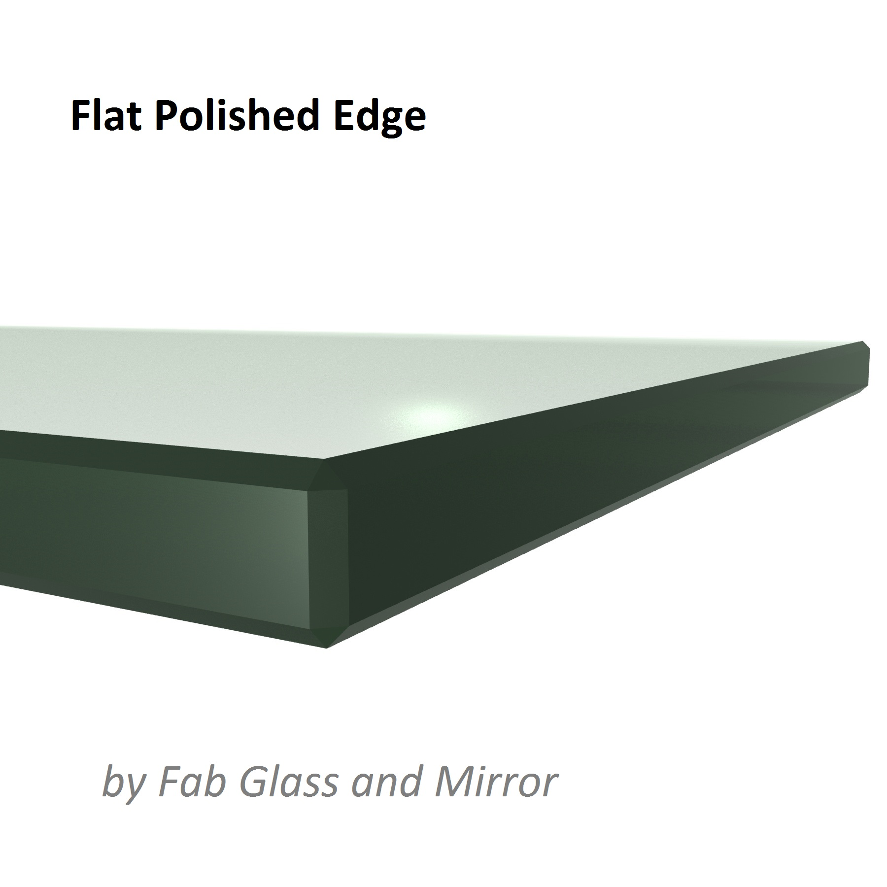 Fab Glass and Mirror Square Clear Glass Table Top with Flat Polish