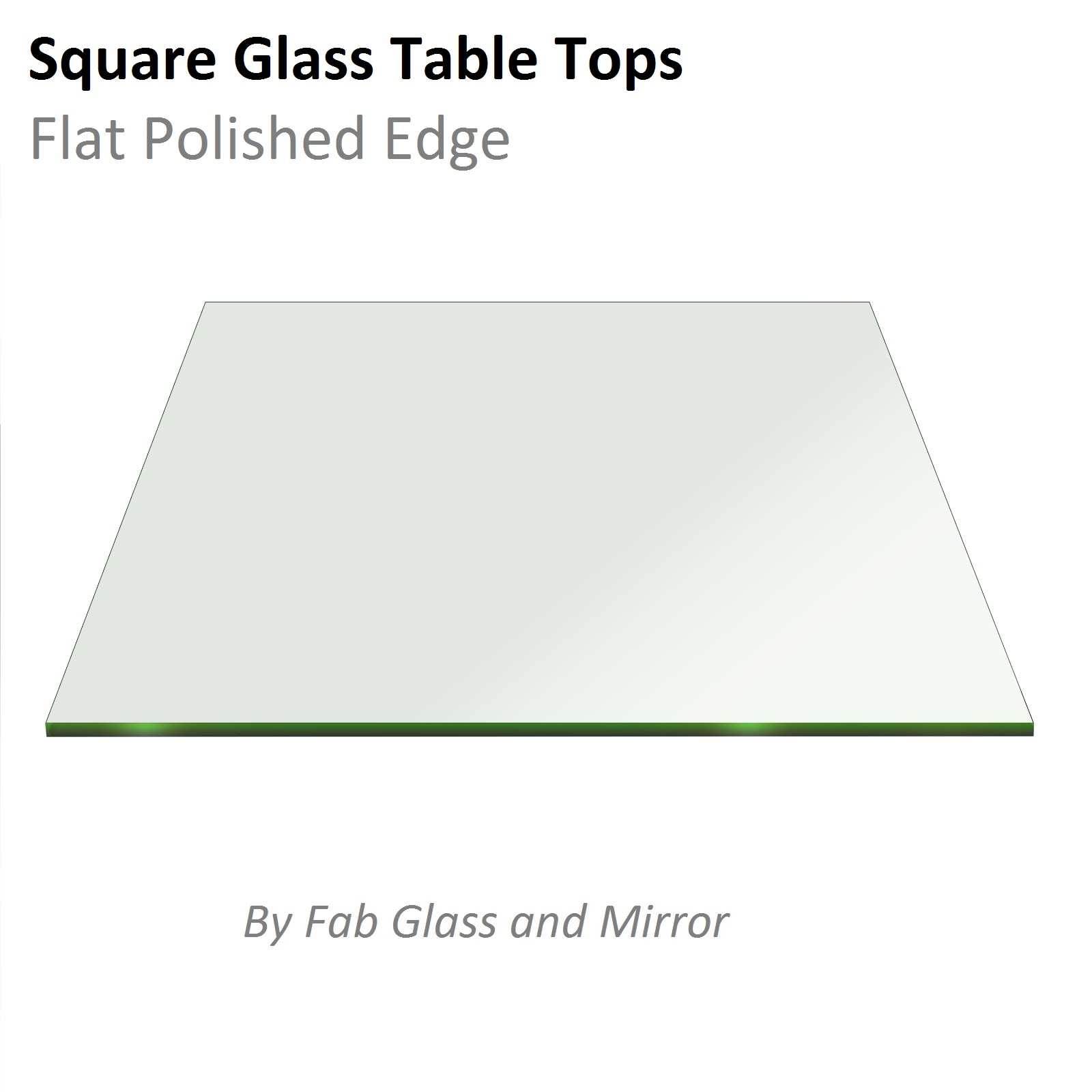 Fab Glass And Mirror Square Clear Glass Table Top With