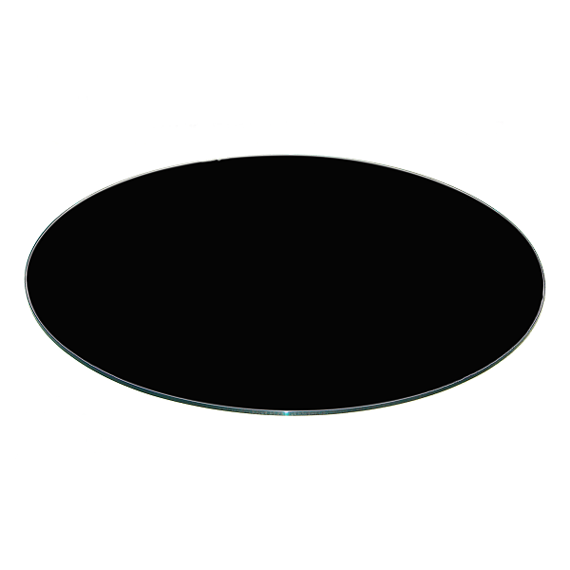 Fab Glass And Mirror Tempered Round Glass Table