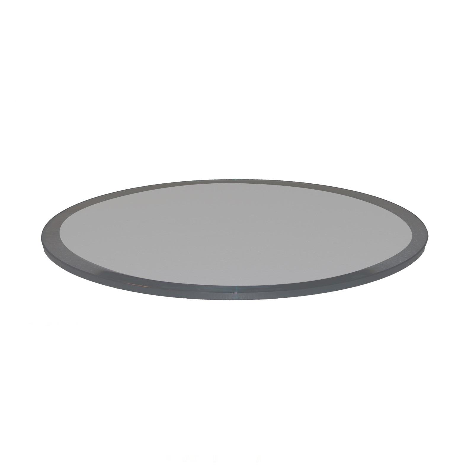 Fab Gl And Mirror Grey Beveled Round