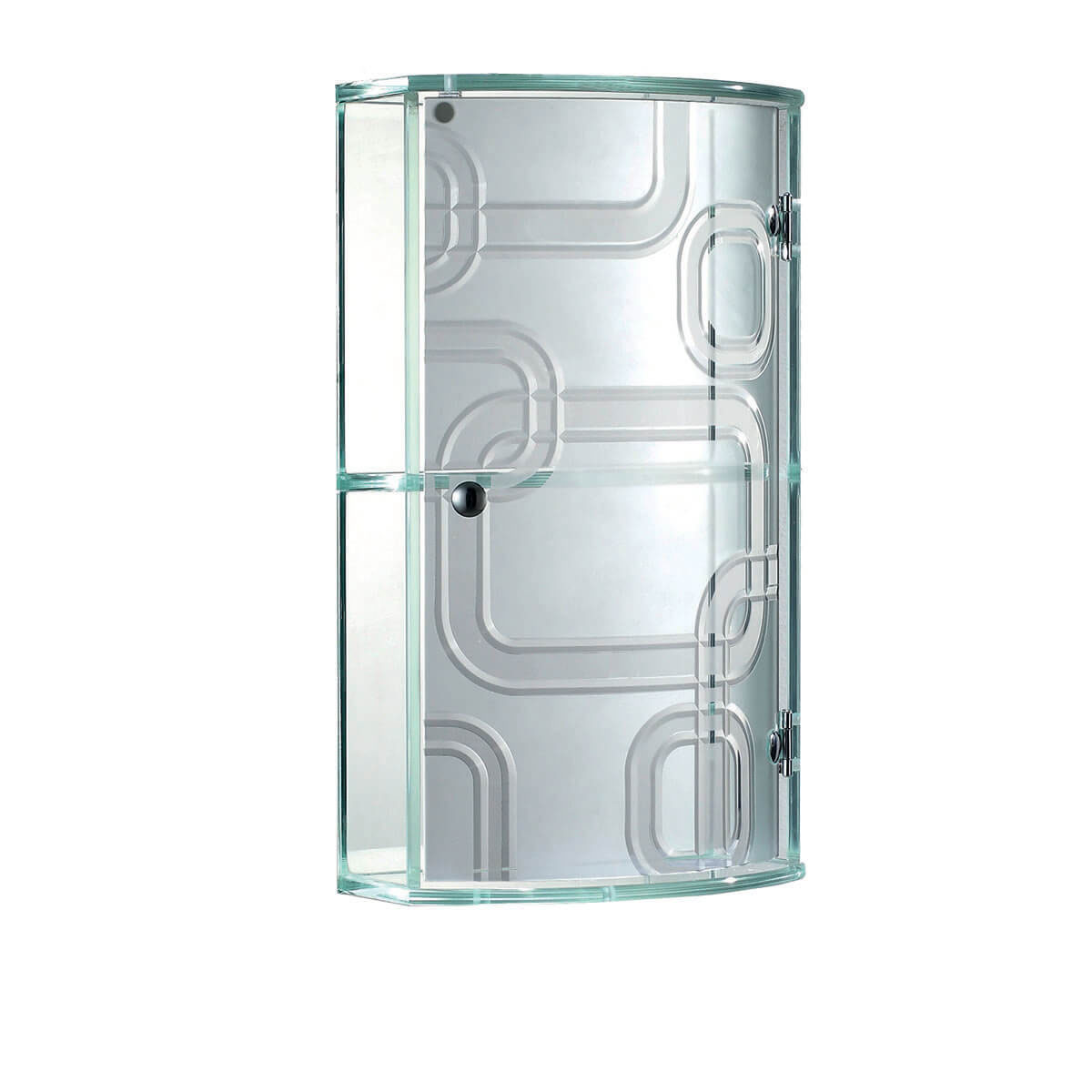 Two Tier Glass Cabinet