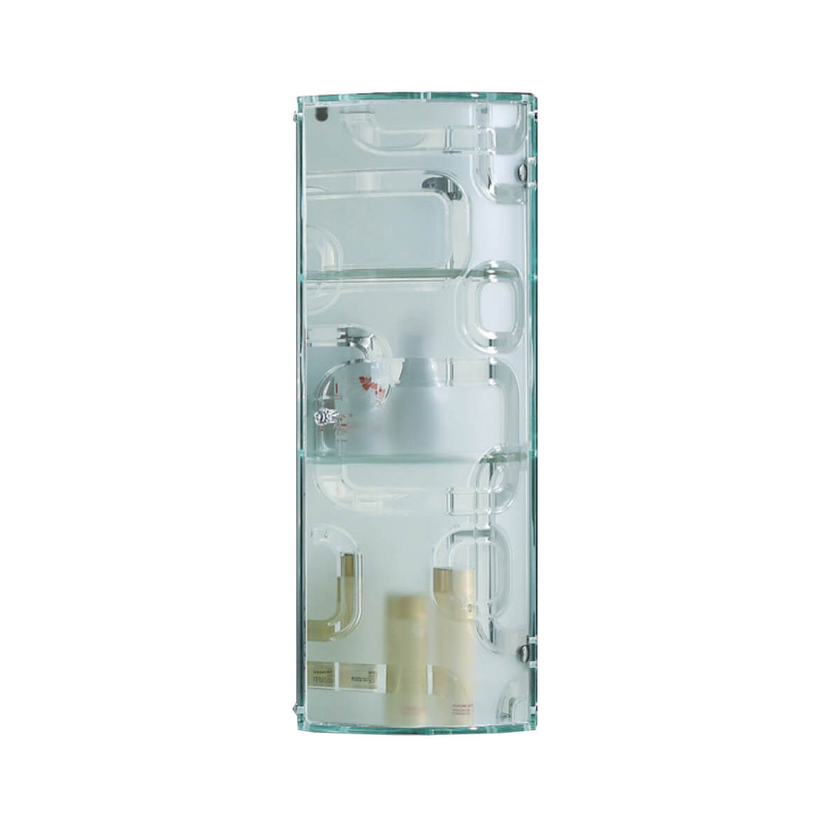 Fab glass and mirror stylish glass wall mounted bathroom - Wall mounted bathroom storage units ...