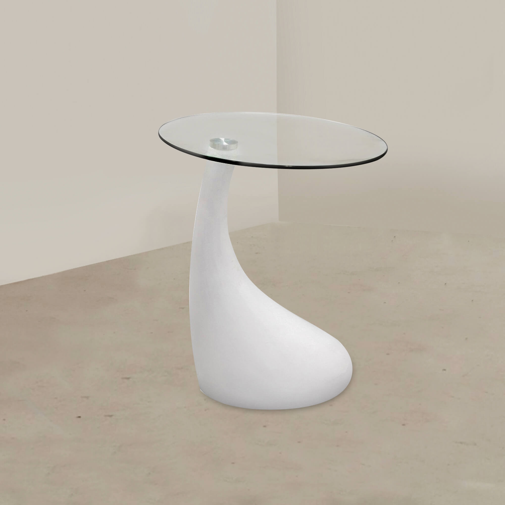 Fab Glasirror Teardrop Side Table With