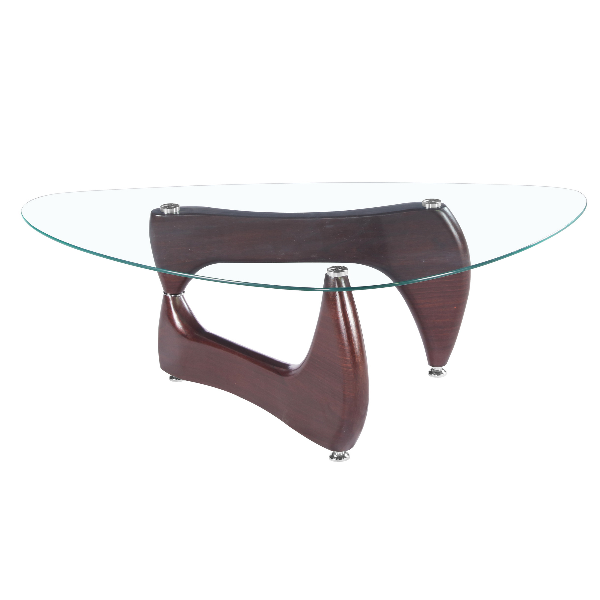 Attractive Fab Glass And Mirror Noguchi Style Coffee Table