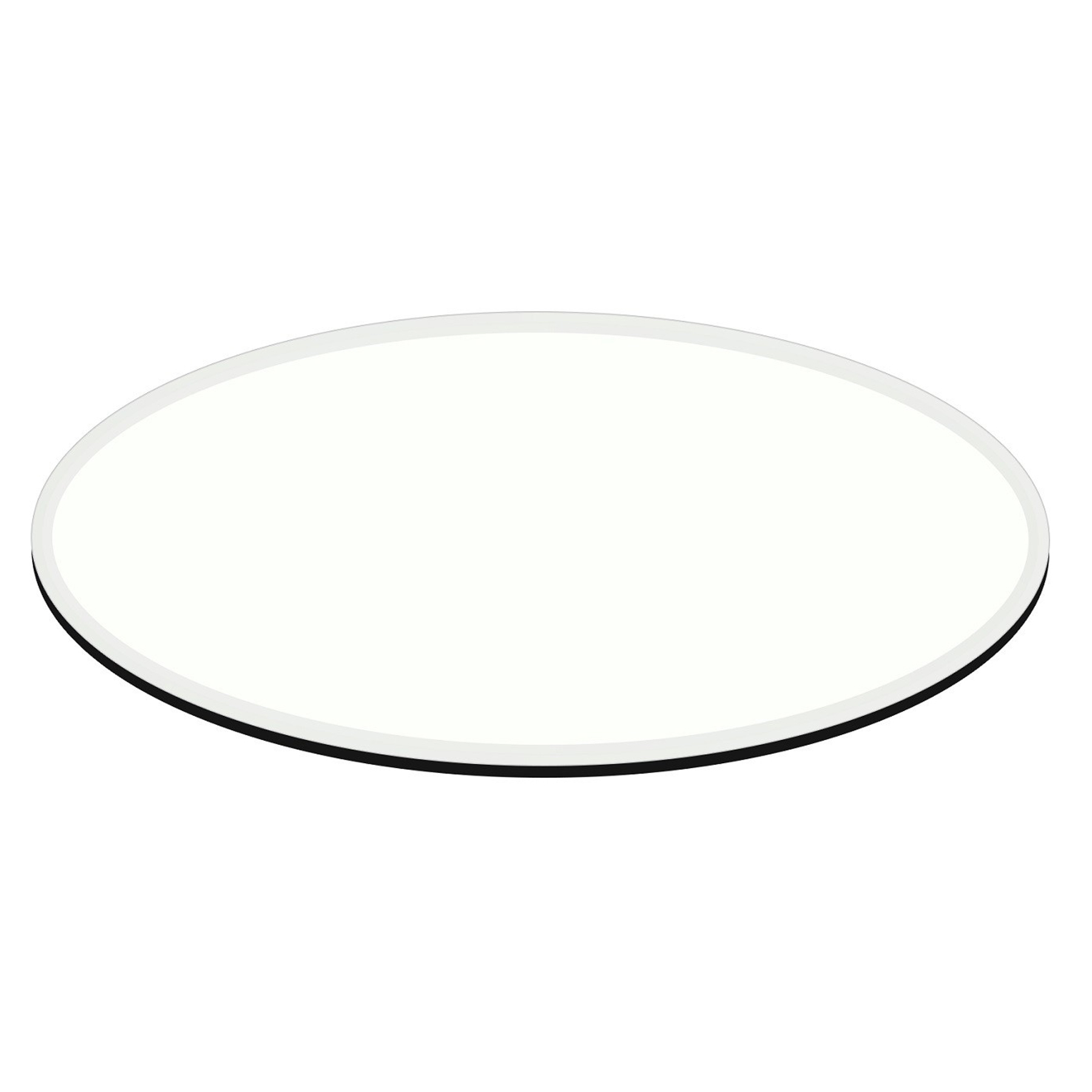 E Oval Egg Glass Table Top 1 2