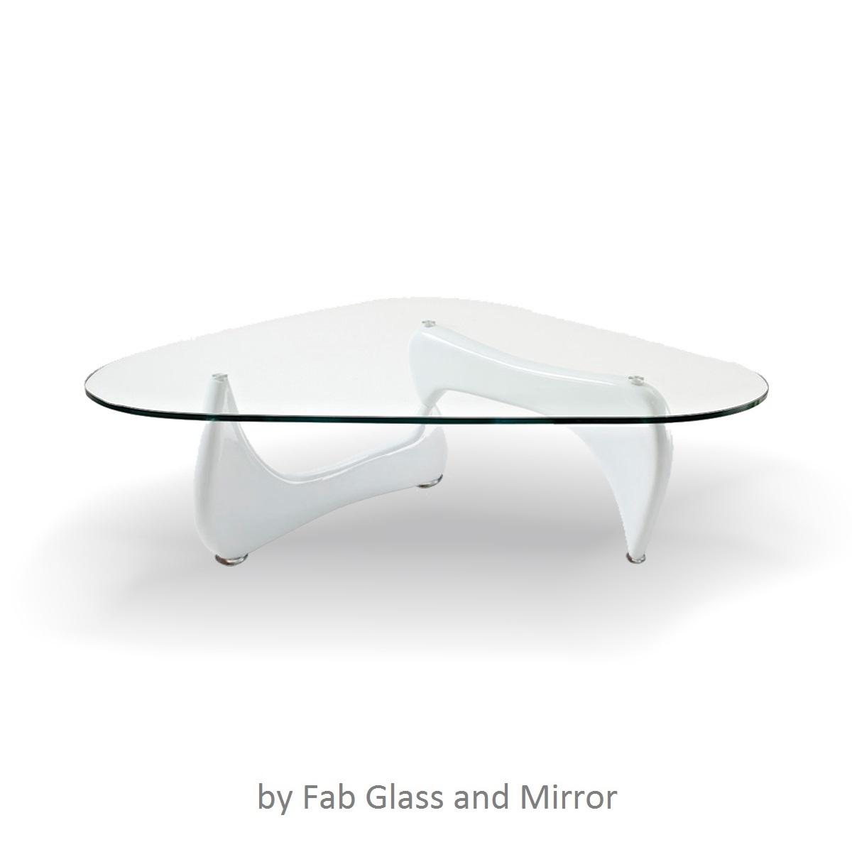 Fab Glass And Mirror Noguchi Style Coffee Table With Clear Glass Top Ebay