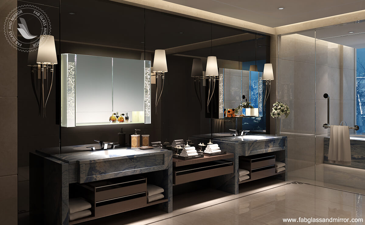 Luxury Bathroom LED Mirror Cabinet