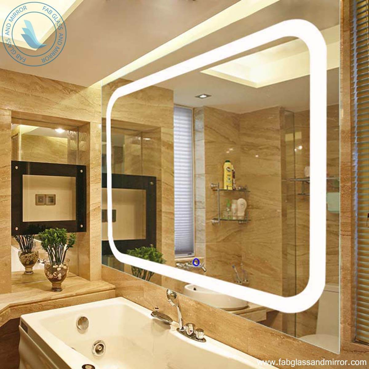 Modern Led Wall Mirrors Bathroom Led Lighted Wall Mirror Wall Mounted